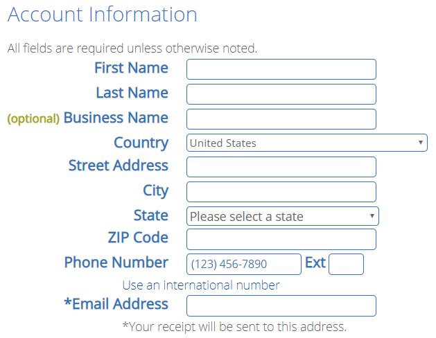 Bluehost webhosting signup
