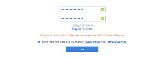 create blog password