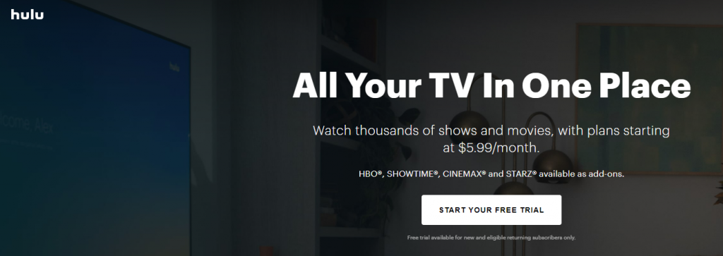 Hulu sales funnel example