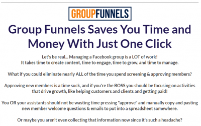 Group Funnels Review and Pricing – Get Leads From Facebook Groups