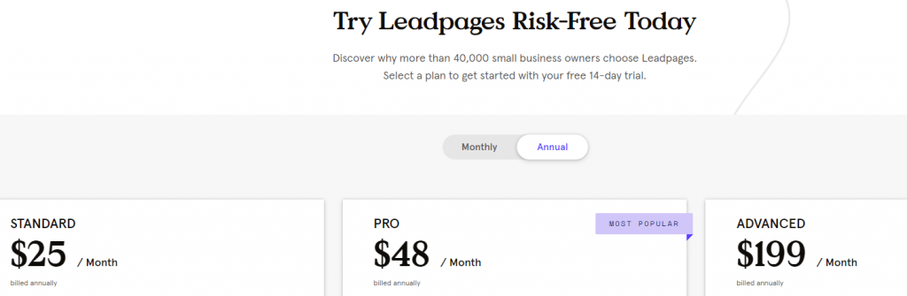 Leadfunnels pricing