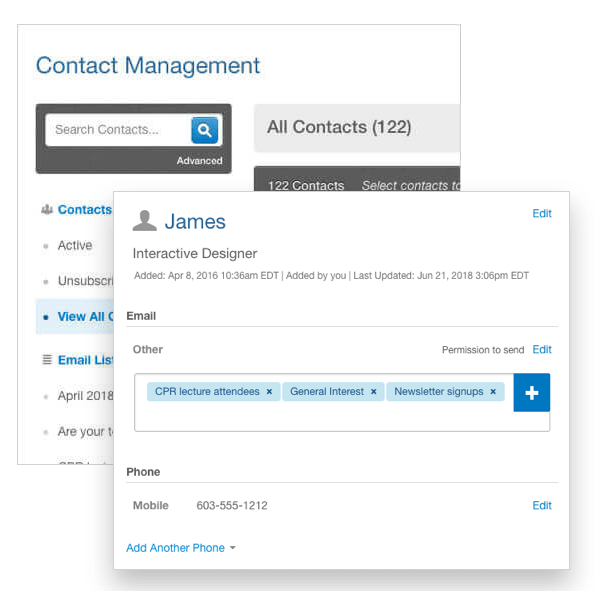email contact management