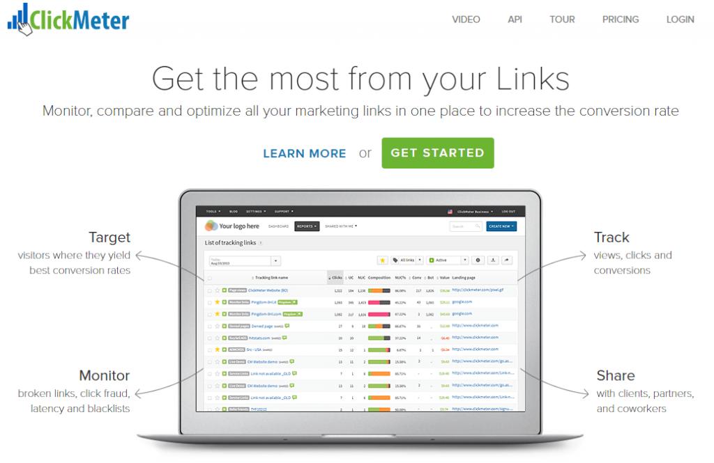clickmeter link clicks